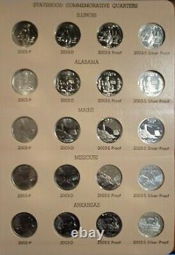 Dansco 1999 2008 & 2009 State Quarters complete Set- SILVER PROOFS- PDSS