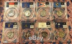 FIFTY-SIX PCGS 1999 to 2009 Silver Quarters BEAUTIFUL SET (No Reserve)