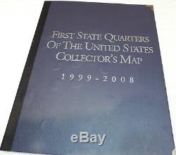 First State Quarters Of The United States Collector's Map 1999 2008