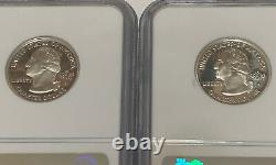 Four Silver State Quarters all NGC PF 70 Ultra Cameo Miss, Ark, Nevada, & SD