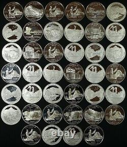 Full Roll (40 Coins) $10 Face of Proof 90% Silver State & National Park Quarters