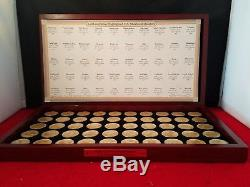 GOLD & SILVER HIGHLIGHTED U. S. STATEHOOD QUARTERS 50 State Set with Box 12.25×7×1.2