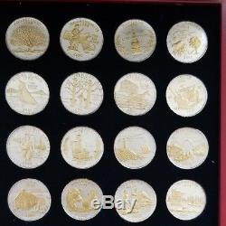 GOLD and SILVER HIGHLIGHTED STATEHOOD QUARTERS COLLECTION FREE SHIPPING