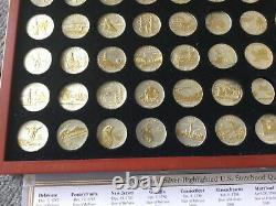 Gold And Silver Highlighted Statehood Quarter Set Of 50, Box, COA
