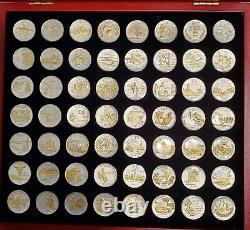 Gold And Silver Highlighted Statehood Quarters Complete Collection