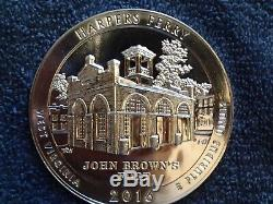Harpers Ferry 5 oz coin mint state 2016