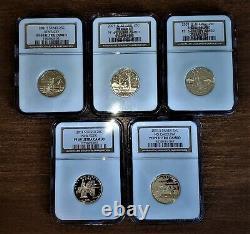 LOT 4X SILVER 1999 -2000 -2001 -2002 Proof Quarter Set NGC PF69 UCAM + PCGS Box