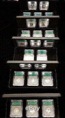 Lot (45) Silver Proof State Quarters ICG PR70 DCAM 2000 2008 in Display Cases
