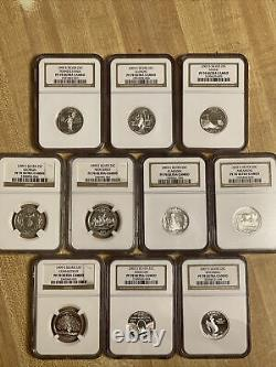 Lot of 10 silver quarter set Ranging From 1999,2003, &2007