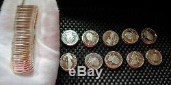 Modern Roll of 90% Silver Proof, BU Cameo S Mint Washington State Quarters