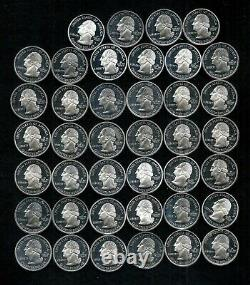 ONE ROLL OF PROOF MODERN QUARTERS (2000-2007) 90% SILVER(40 Coins) LOT H39
