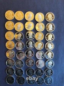 ONE Roll Silver Proof State Quarters 90% Silver NO RESERVE