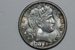 One Cool Toned 1908-O Barber Quarter Mint State (Stock # BQX0935)
