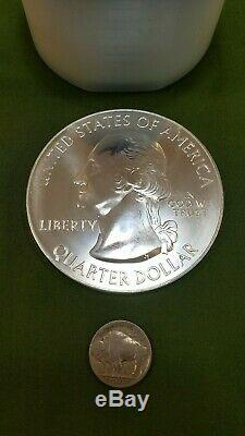 Roll of 10 2011 US Mint 5oz. 999 Fine Silver Gettysburg State Quarter Rounds