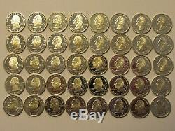 Roll of 40, $10 FV, 90% Silver Proof Washington State/National Park Quarters