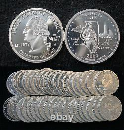 Roll of 40 2003-S Proof Illinois 90% Silver Quarters