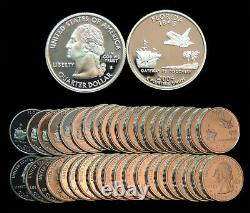 Roll of 40 2004-S Proof Florida 90% Silver Quarters