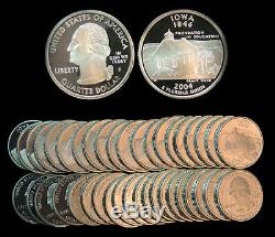 Roll of 40 2004-S Proof Iowa 90% Silver Quarters
