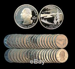 Roll of 40 2005-S Proof Oregon 90% Silver Quarters