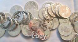 Roll of Forty 90% Silver Proof State, Territorial & Park Quarters -6.99 Ship