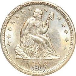 S7693 United States Rare Liberty Seated Quarter 25 Cents 1856 PCGS UNC Silver