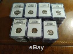 SILVER STATE QUARTERS ALL 50 STATES (and more) NGC PF69 ULTRA CAMEO