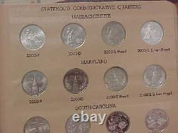 STATE QUARTERS SET 1999-2003 & 2004-2008 PDSS in (2) DANSCO ALBUMS with Silver