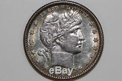 Scratched Obverse NET Mint State 1892 O Barber 90% Silver Quarter (BQX845)