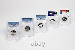 Set of 50 1999S-2008-S Complete Silver State Quarter Set PF70/WY &Delaware PF69