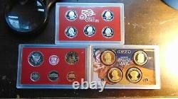Silver Quarter Us Mint Proof Sets- All Of The State Quarters