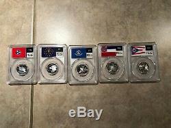 Silver State Quarters Complete Set 50 Flags Slabs Pcgs Pr69dcam