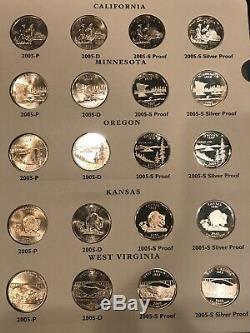 State Quarter Set 1999-2008 All Bu/Proof/Silver Proof 2 Littleton Coin Album