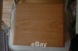 State quarter storage solid oak wood box for ngc grade coins fit 56 coin