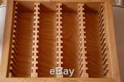 State quarter storage solid oak wood box for pcgs or ngc grade coins fit 56 coin