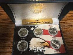 USA State Quarters Set with Wooden Case