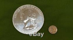 US Mint 2011 5oz. 999 Fine Silver Large Gettysburg State Quarter Bullion Round