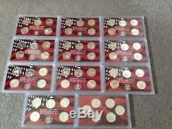 US Mint Silver Bullion State Quarters Proof Set 1999 2009 Coin Eagle