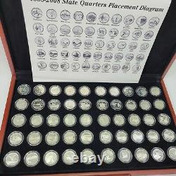 US Silver Proof State Quarters 1999-2008 All 50 States Statehood 25C Mint + COA