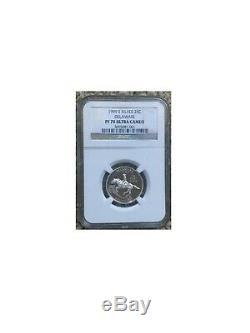 US State Quarters 1999 Delaware Coin PR 70 Ultra Cameo Silver