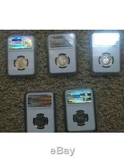 US State Quarters 2001 Set PR 70 Ultra Cameo Silver