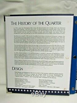 U. S. 1999-2009 Statehood & Territories 90% Silver Proof Quarters In Album