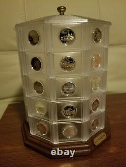 Unique Gift! State Quarter Tower Display with all 50 Silver proof quarters
