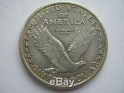 United States 1917-D 1st Type Quarter VF