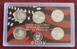 United States Mint 50 State Quarters Silver Proof Sets 90% 7 Sets 35 Silver Coin