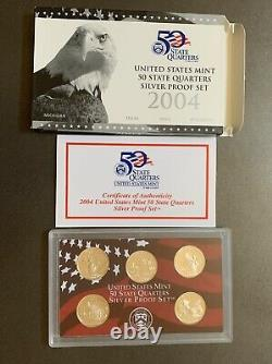 United States Mint Silver Proof Quarter Sets 2004-2015 With Free Shipping