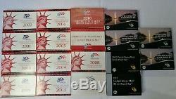United States Mint Silver Proof Set USA Silber 1999 2016 Dollar Quarter Ser
