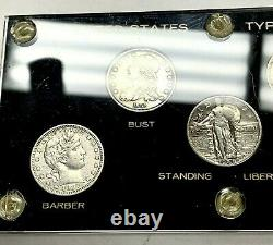 United States Silver Quarters Type Set with Capital Plastic Holder 25c