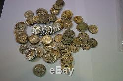 United States US 90% Silver Quarters $20 Face 80 Coins Washington JSH