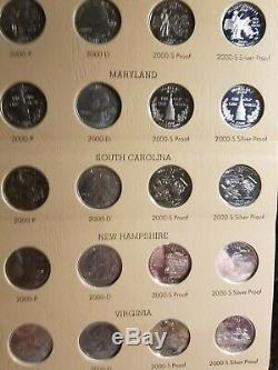 WASHINGTON QUARTERS STATEHOOD 200 Count QUARTER SET 1999-2008 in 2 DANSCO ALBUMS