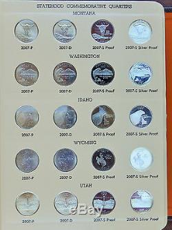 WASHINGTON QUARTERS STATEHOOD QUARTER SET 1999 TO 2008 in DANSCO ALBUM